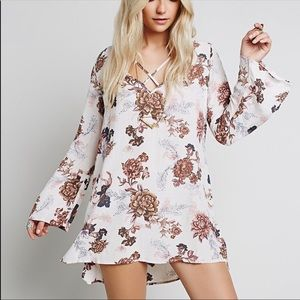 xs Anthro Heart Beat floral tunic dress free peopl